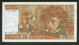 10 FRANCS BERLIOZ BILLET FRANCAIS E.284 N° 949672 TTB PETIT PRIX IDEAL DEBUTANT CRAQUANT D'ORIGINE 7 TROUS ! 5-1-1976 - 10 F 1972-1978 ''Berlioz''