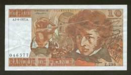 REMISE 10% - 10 FRANCS BERLIOZ BILLET FRANCAIS Z.298 N° 046577 SUP+ DEBUTANT CRAQUANT D'ORIGINE PAS DE TROUS ! 2-6-1977 - 1962-1997 ''Francs''