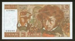 10 FRANCS BERLIOZ BILLET FRANCAIS X.20 N° 09690 SPL IDEAL DEBUTANT CRAQUANT D'ORIGINE 5 TROUS ! 7-2-1974 - 1962-1997 ''Francs''
