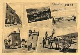@   RIESI - SALUTI - VEDUTE - - Caltanissetta