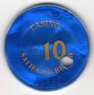 Jeton BG De Casino Salies-de-Béarn €10 : Percé - Casino