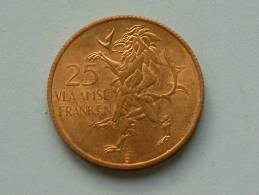 25 VLAAMSE FRANKEN / VLAANDEREN 1986 ( Goudkleur - For Grade And Details, Please See Photo ) - Belgium