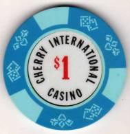 Jeton De Cherry International Casino $1 : Cerises - Casino