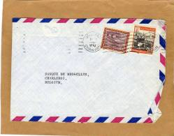 Enveloppe Brief Cover Pliée By Air Mail Arab Bank LTD Saudi Arabia To Banque De Bruxelles Charleroi Belgium - Arabie Saoudite