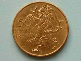 50 VLAAMSE FRANKEN / VLAANDEREN 1985 ( Goudkleur - For Grade And Details, Please See Photo ) - Belgique