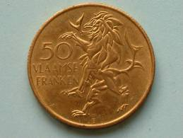 50 VLAAMSE FRANKEN / VLAANDEREN 1985 ( Goudkleur - For Grade And Details, Please See Photo ) - Belgium