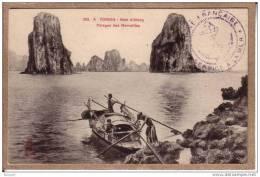 TONKIN - BAIE D´ALONG - 285 A - PARAGES DES MERVEILLES - CACHET SERVICE A LA MER - éditeur Dieulefils - Vietnam