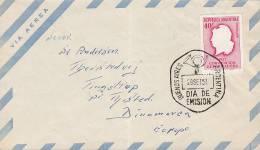 """## Argentina Primer Dia Letra FDC Cover 1957 Verfassungsänderung Kopf Der """"Argentina"""" - FDC"""