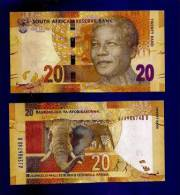 SOUTH AFRICA 2012 MANDELA 20 RAND NOTE (crispy New, Straight From The Bank) COLLECTORS ITEM - Zuid-Afrika