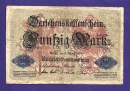 GERMANY 1914 50 Mark Used VG KM 49B - [ 2] 1871-1918 : German Empire