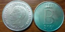1951-1976-250FRB-BOUDEWIJ N-KONING DER BELGEN - 10. 250 Francs
