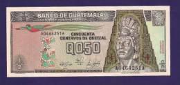 GUATEMALA 1982 Used VF  Banknote 1/2 Quetzal Folded - Guatemala