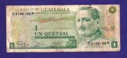 GUATEMALA 1983 Used VG  Banknote 1 Quetzal Little Torn - Guatemala