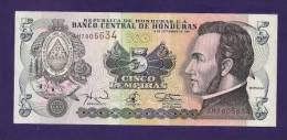 HONDURAS 1978 UNC  Banknote 5  Lempiras KM 498 - Honduras