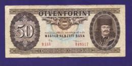 HUNGARY 1986 Used VF  Banknote 50 Forint KM 170e - Hongarije