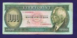 HUNGARY 1983 Used VF  Banknote 1.000 Forint KM 173 - Hongarije