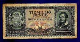 HUNGARY 1945 Used VF  Banknote 10.000.000 Pengo KM123 - Hongarije