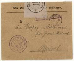 Brüssel 2 / ?-12-17 (Nordbhf.) DER VERWALTUNGSCHEF FÛR FLANDERN -REICHSDIENSTSACHE - Other Covers