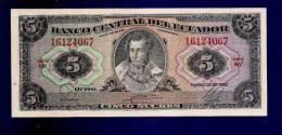 ECUADOR 1982 UNC Banknote 5 Sucres KM113a - Ecuador