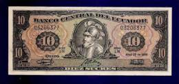 ECUADOR 1986 UNC Banknote 10 Sucres KM115a - Ecuador