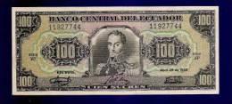 ECUADOR 1986 UNC Banknote 100 Sucres KM118a - Ecuador