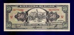ECUADOR 1988 UNC Banknote 50 Sucres KM116a - Ecuador