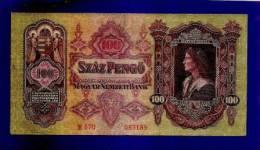 HUNGARY 1930 Used VF  Banknote 100 Pengo KM98 - Hongarije