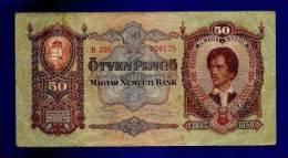 HUNGARY 1932 Used VF  Banknote 50 Pengo KM99 - Hungary