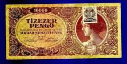 HUNGARY 1945 Used VF  Banknote 10.000 Pengo KM119 - Hongarije