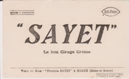 Buvard Cirage Crème Sayet - Buvards, Protège-cahiers Illustrés