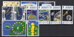 Jersey 1986 / 2000 Space Europa 11 Stamps MNH - Space