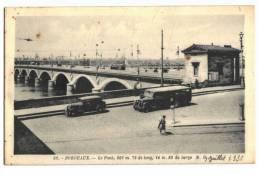 10115    BORDEAUX   Le Pont   Autobus   1936    Non écrite - Bordeaux