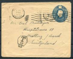 1946 GB Switzerland Postage Due Stationery Cover - 1902-1951 (Kings)