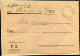 1906 Sweden Varde Insured Official Cover