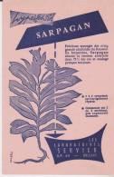Buvard Sarpagan Laboratoires Servier - Drogisterij En Apotheek