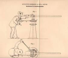 Original Patentschrift - A. Normand & Cie In Hávre , 1897 , Geschützstand Für Schnellfeuergeschütze , Kanone !!! - Equipement