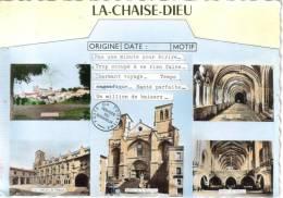CPSM LA CHAISE DIEU (Haute Loire) - 5 Vues Poste Du Tourisme - La Chaise Dieu