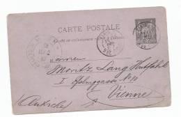- Lettre - ENTIPER POSTAL - SEINE -PARIS - EP Type Sage 10 Cmes Noir S/Violet - 1887 - Unclassified