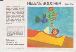Buvard Santé Sobriété Helene Boucher - Buvards, Protège-cahiers Illustrés