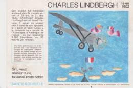 Buvard Santé Sobriété Charles Lindbergh - Buvards, Protège-cahiers Illustrés