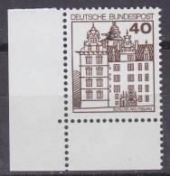 Bundespost Mi.1037 Plattenfehler Philotax 815-XX1 Postfris Hoekstuk - [7] West-Duitsland