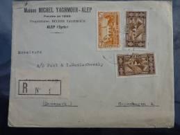 LETTRE RECOMMANDEE DE ALEP SYRIE 1938 POUR LE DANEMARK  COVER