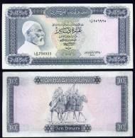 LIBIA (LIBYA) : Banconota 10 Dinari - P37b – XF - Libia