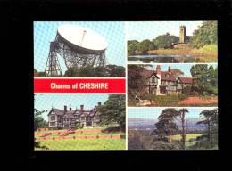 CHESHIRE Charms Jodrell Bank Radio Telescope Bramall Hall Lymm Church Gawsworth Alderley Edge - Angleterre