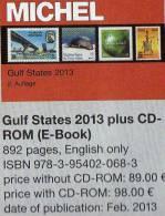 Gulf-States Naher Osten Briefmarken Michel Katalog 2013 New 89€ Arabische Länder Part 10 In English Catalogue Of Germany - Pasatiempos Creativos