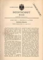Original Patentschrift - J. Weil In Weinhaus B. Wien , 1889 , Klebemaschine Für Schachtelecken !!! - Maschinen