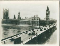 UK, London, Houses Of Parliament And Westminster Bridge, 1910s-20s Real Photo Snapshot [12671] - Photography