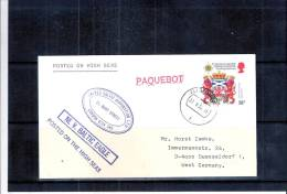 Cover From England To Germany - United Baltic Corporation Ltd - Baltic Eagle - PAQUEBOT (to See) - Storia Postale