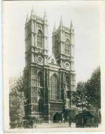 UK, London, Westminster Abbey, West Front, 1910s-20s Real Photo Snapshot [12675] - Photography