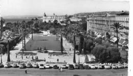 [06] Alpes Maritimes > Nice- Les Jardins Albert 1er Au Fond Hôtel Ruhl (auto Voiture Citroen Traction 2 CV DS D S - Parcs Et Jardins